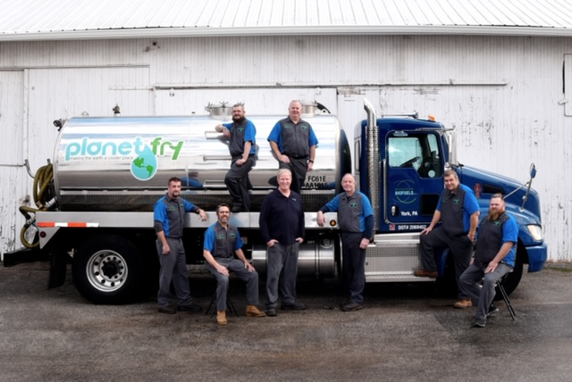 Planet Fry Team With Collection Truck.